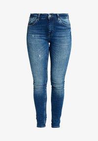 ONLY - ONLCARMEN - Jeans Skinny Fit - dark blue denim - 4
