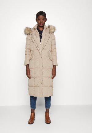 MAXI INSULATED COAT - Down coat - warm beige