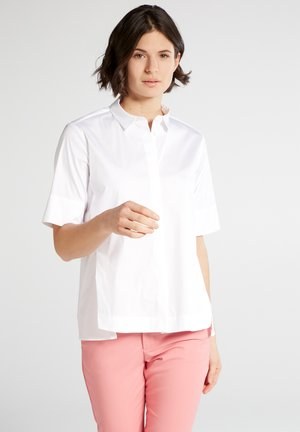 SHORT SLEEVE - Button-down blouse - white