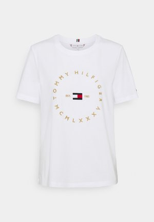 REGULAR CIRCLE TEE - Print T-shirt - white