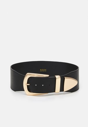 PCTRACY WAIST BELT - Pásek - black/gold-coloured