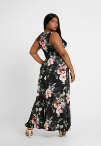 Anna Field Curvy - Robe longue - black/rose/dark green - 3