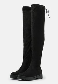 New Look - CALCUTTA STRETCH CHUNKY - Over-the-knee boots - black - 2
