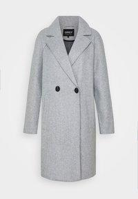 ONLY Petite - BERNA BONDED COAT - Zimní kabát - light grey melange - 4