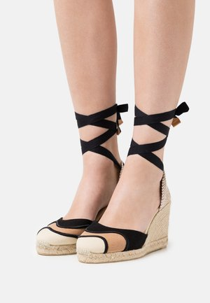 CASEY - Platform sandals - tostado/multicolor