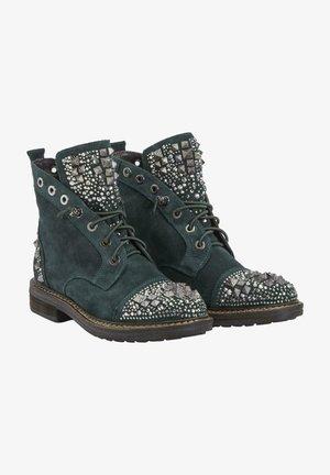 DAMARA - Lace-up ankle boots - blue