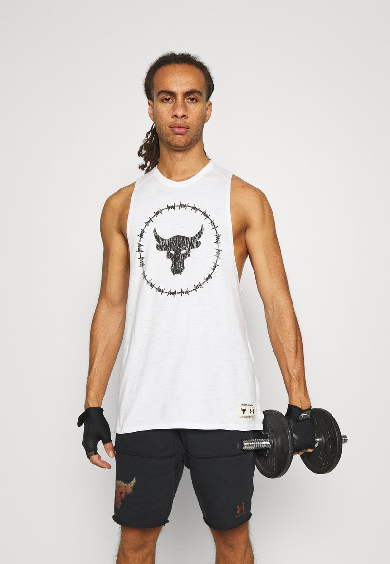Under Armour - PROJECT ROCK TANK - Toppe - onyx white