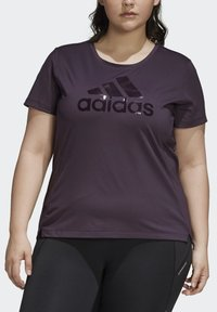 adidas Performance - GLAM ON BADGE OF SPORT LOGO T-SHIRT (PLUS SIZE) - Camiseta estampada - purple - 6