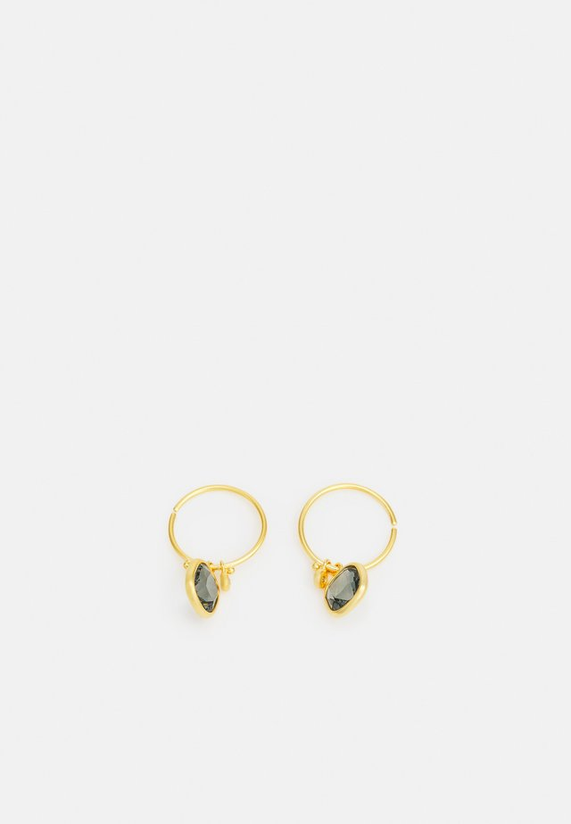 OLIVIA MINI HOOPS - Øreringe - gold-coloured/grey