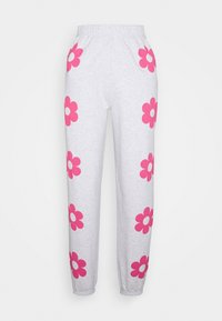 NEW girl ORDER - FLOWER POWER  - Pantalones deportivos - grey - 3