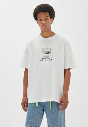 AQUARIUMSMOTIV - Print T-shirt - off-white