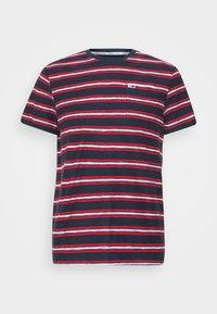 Tommy Jeans - STRIPE TAB TEE - Print T-shirt - twilight navy - 7