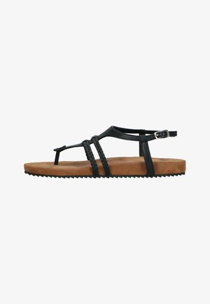 T-bar sandals - black, brown