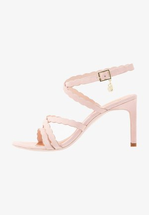LILLYS - High heeled sandals - nude/pink