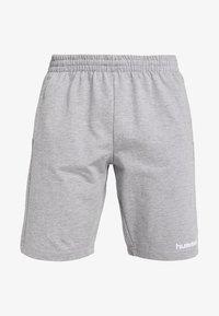 Hummel - HMLGO BERMUDA - Sportovní kraťasy - grey melange - 5
