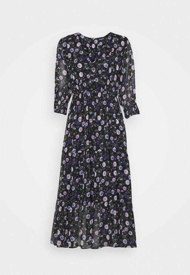 DRESS - Korte jurk - black/purple