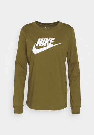 TEE ICON - Long sleeved top - olive flak/white