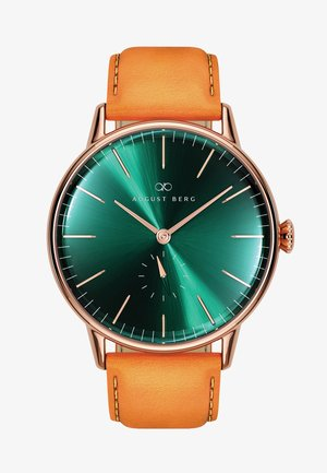 UHR SERENITY GREENHILL EYE LEATHER 40MM - Montre - sunray green