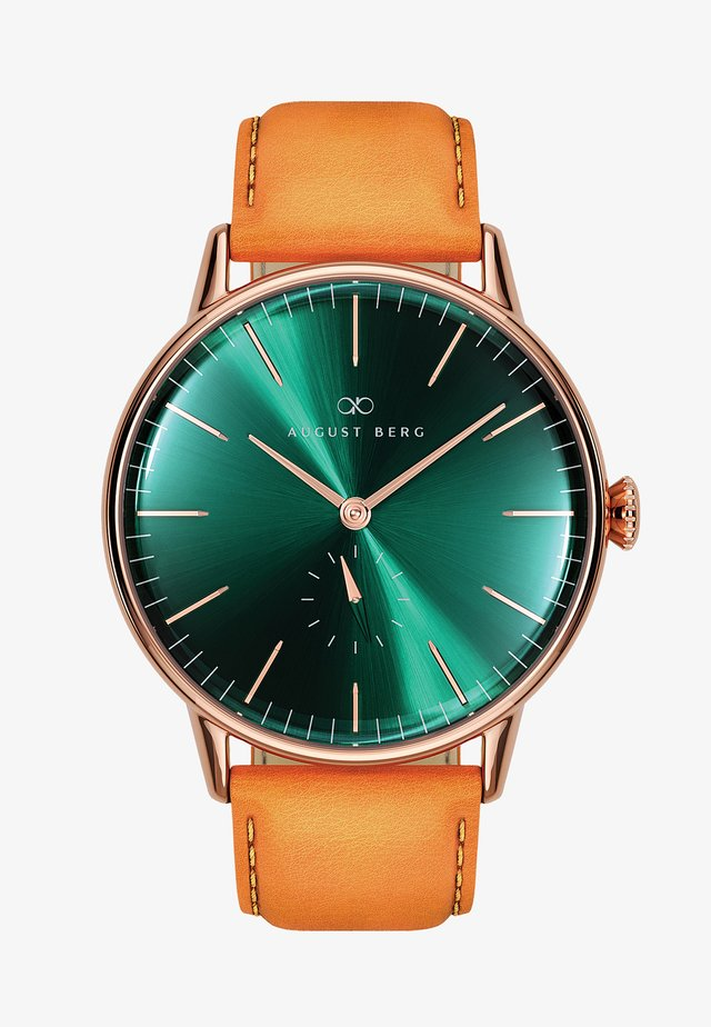 UHR SERENITY GREENHILL EYE LEATHER 40MM - Ure - sunray green