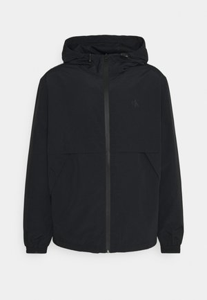 LOGO ZIP THROUGH - Summer jacket - black