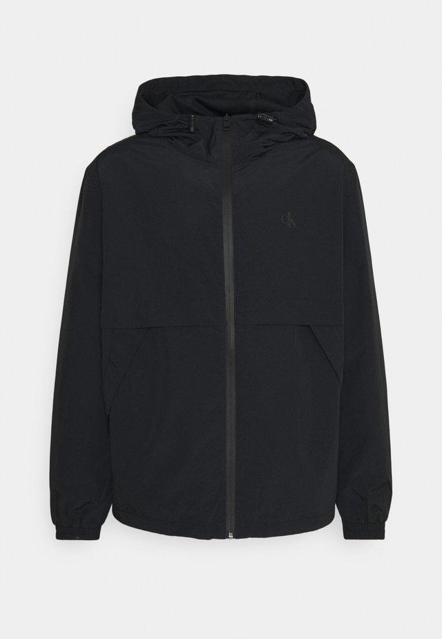 LOGO ZIP THROUGH - Summer jacket - black