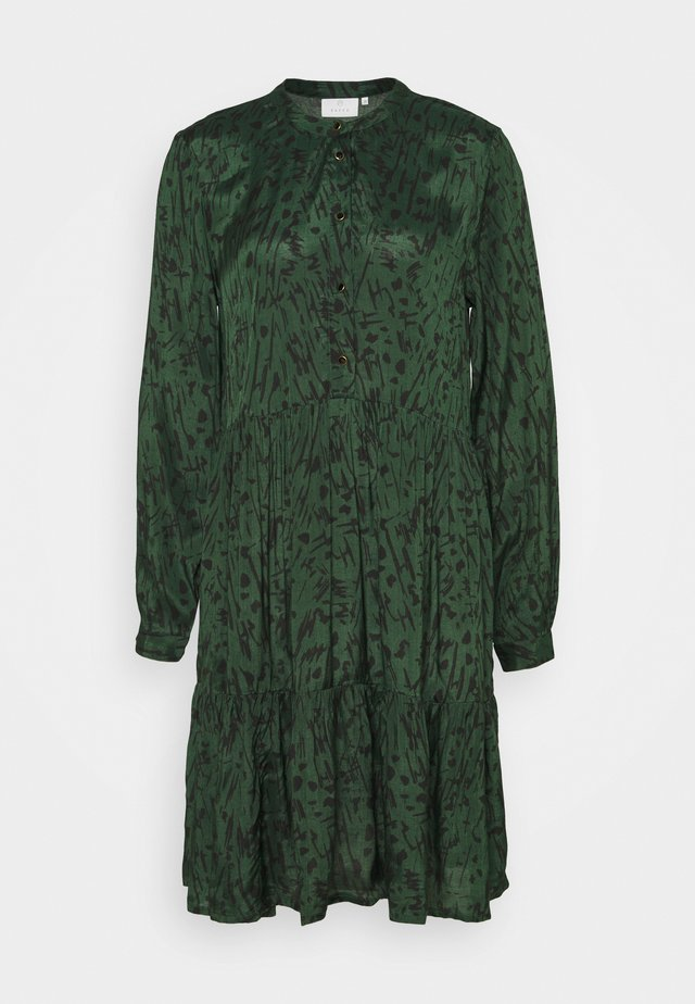 KANAOMI DRESS - Korte jurk - dark green/black stroke