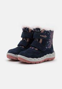 Superfit - ICEBIRD - Snowboots  - blau/rosa - 1