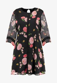 Simply Be - FLORAL SKATER DRESS - Day dress - black - 5