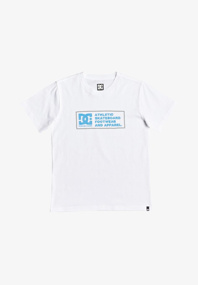 SKETCHY ZONE BOY - Print T-shirt - white