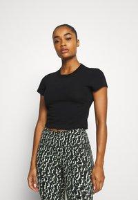 Cotton On Body - SIDE GATHERED - Camiseta básica - black - 0