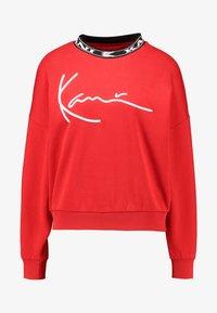 Karl Kani - SIGNATURE CREW - Sweatshirt - red/white/black - 5