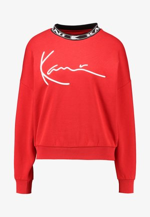 SIGNATURE CREW - Sweatshirt - red/white/black
