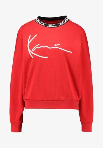 SIGNATURE CREW - Sweatshirt - red/white/black