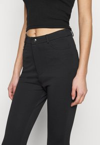 Even&Odd Tall - HIGH WAIST 5 pockets PUNTO trousers - Trousers - black