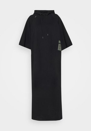 LONG HOODED DRESS - Maxi-jurk - dark black