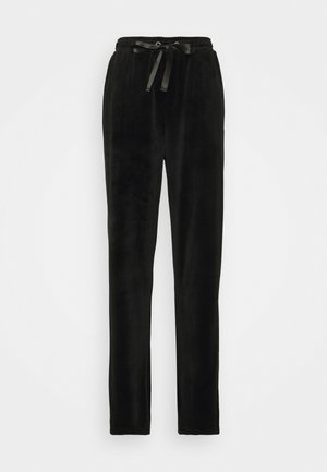VMATHENA VELVET - Tracksuit bottoms - black