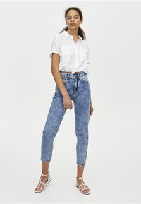 PULL&BEAR - MOM FIT - Straight leg jeans - blue denim - 3