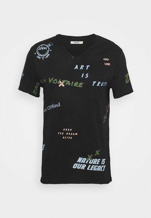 MONASTIR - Print T-shirt - noir