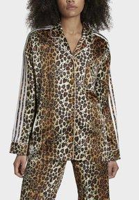 adidas Originals - LEOPARD - Button-down blouse - brown - 3