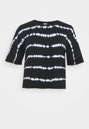 NMBUSTER TIE DYE - Print T-shirt - black