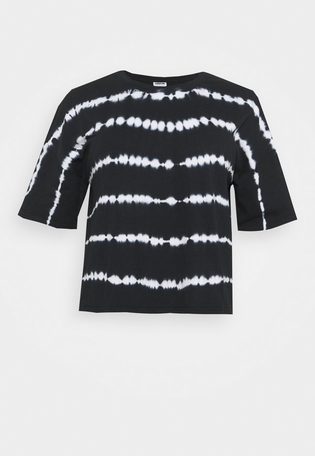 NMBUSTER TIE DYE - T-shirt con stampa - black