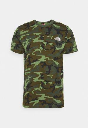 SIMPLE DOME TEE - T-shirt basic - thyme/brushwood