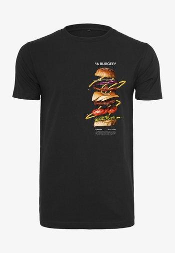A BURGER  - Print T-shirt - black