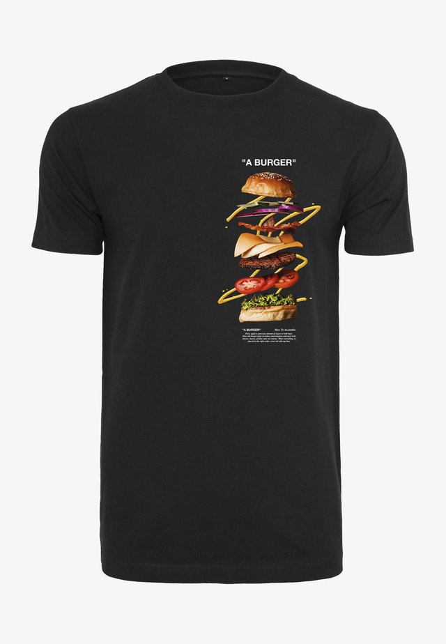A BURGER  - T-shirt print - black