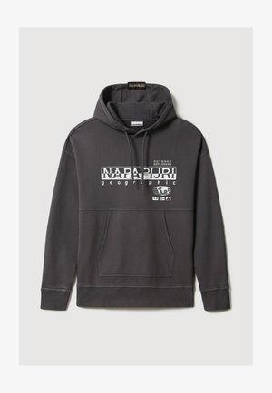 Hoodie - dark grey solid
