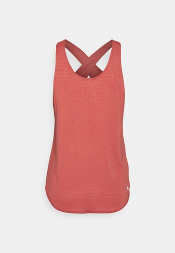 BREATHE TANK COOL - Topper - canyon rust/reflective silver