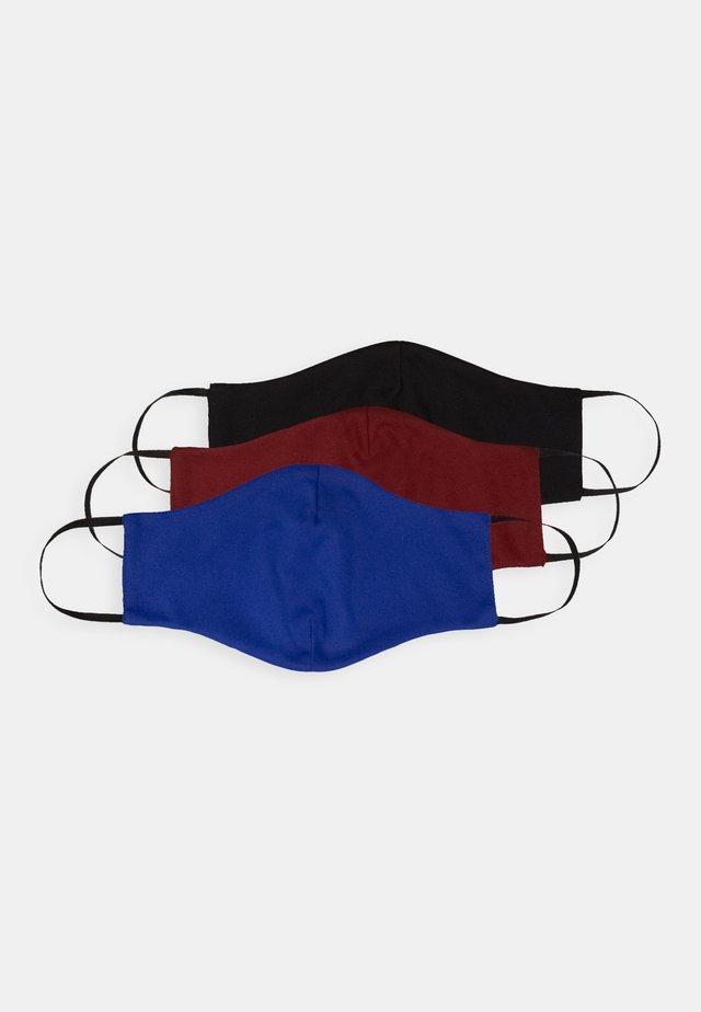 3 PACK - Masque en tissu - red/black/blue