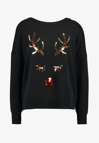 ONLY - ONLXDEER - Pullover - black/silver sequins - 3
