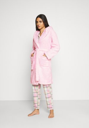 BUNNY SHERPA HOODED ROBE - Dressing gown - pink