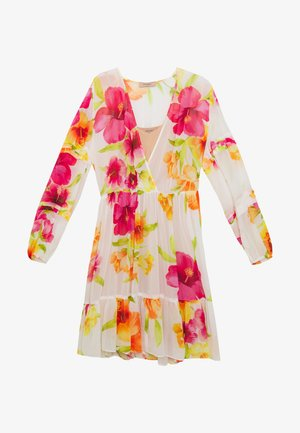 Koktejlové šaty/ šaty na párty - hibiscus